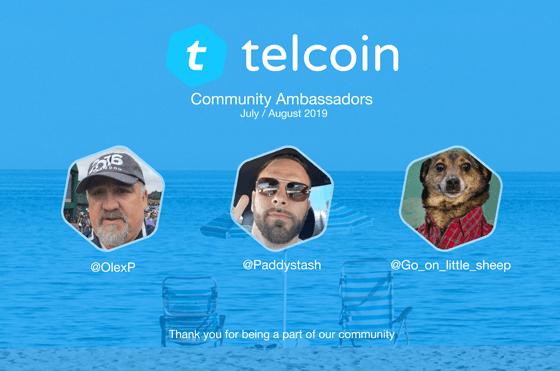 august 2019 telcoin ambassadors