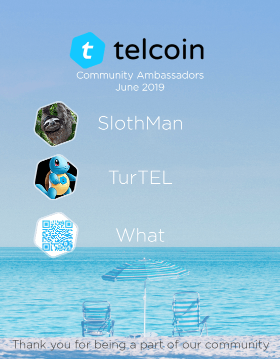 Telcoin June 2019 Ambassadors