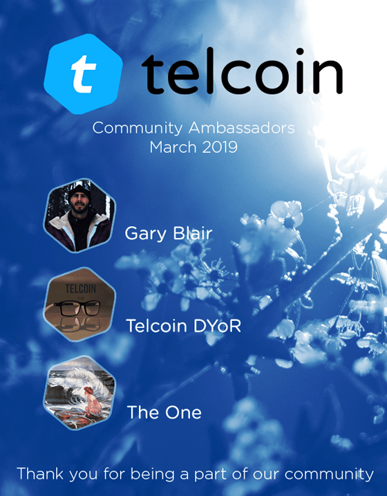 Telcoin March 2019 Ambassadors