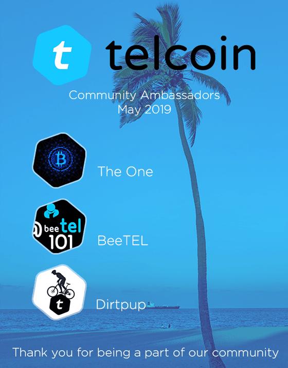 may 2019 telcoin ambassadors
