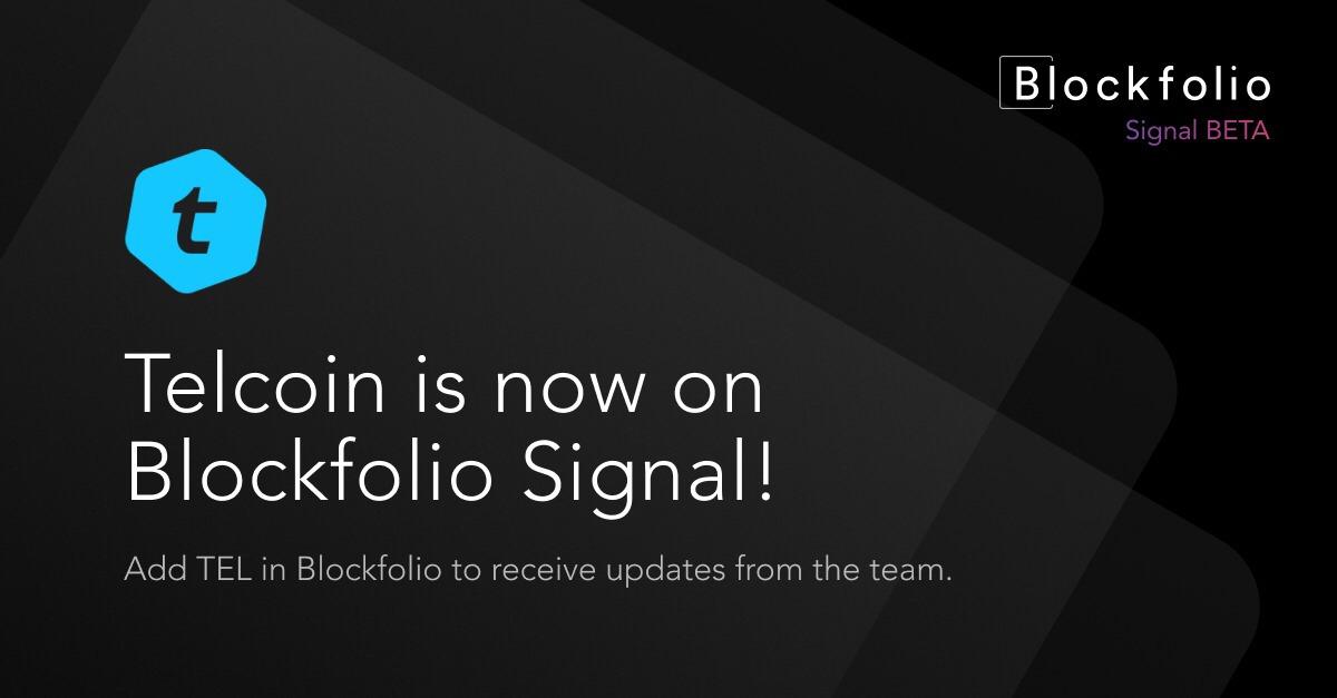 Telcoin in Blockfolio Signals